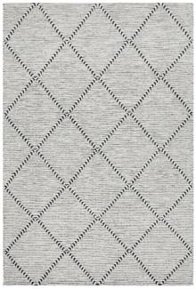 Brighton Grey Diamond Wool Rug