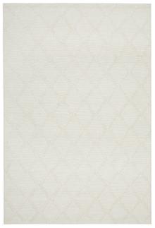 Lorissa Luxury Wool Blend White Rug