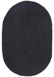 Ari Oval Black Jute Rug