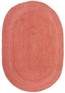 Ari Oval Terracotta Jute Rug