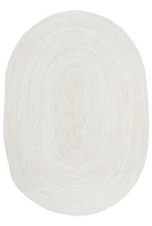Ari Oval White Jute Rug