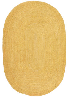 Ari Oval Yellow Jute Rug