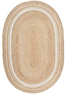 Noosa Oval Natural Jute Rug