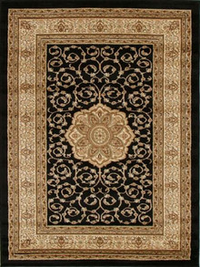 Heritage 3 Black Traditional Rug
