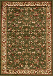 Heritage 2 Green Traditional Rug