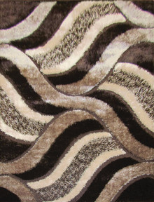 Amore Luxury Shaggy 5328 Brown Rug