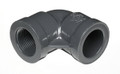 "3"" 90° Degree Elbow PVC Fitting Slip x Fipt Schedule 80"