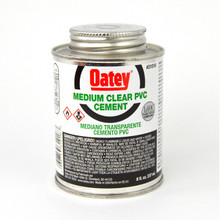 Oatey Medium Body Clear PVC Cement - 1/2 Pint (31018)