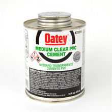 Oatey Medium Body Clear PVC Cement - 1 Pint (16 oz.) (31019)