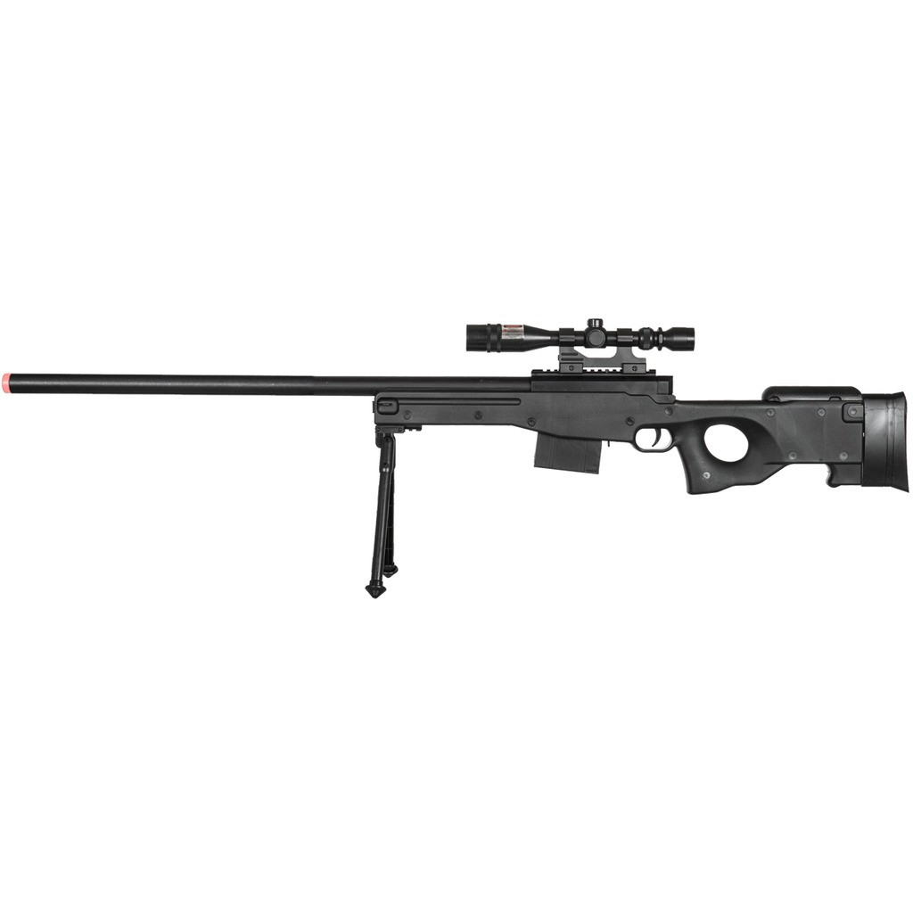 Ukarms P2703b Spring Airsoft Sniper Rifle Gun With Laser Scope Bipod Unlimited Wares Inc