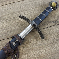 """23"""" King Arthur Knights Of The Round Table Excalibur Sword Black"""