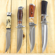 4 Piece Fixed Blade Hunting Knife Set With Sheath