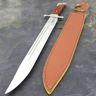 """Defender 18"""" Full Tang Wood Handle Machete Sword"""