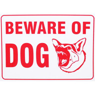 "9"" x 12"" Beware Of Dog Warning Sign"