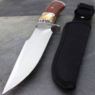 "10.5"" Fixed Blade Gentleman's Knife With Wood Handle"