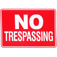 "9"" x 12"" No Trespassing Sign"