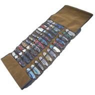 36 Folding Knives Portable Canvas Storage Roll Bag