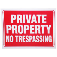 "9"" x 12"" Private Property Sign"
