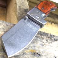 """Buckshot 7.75"""" Razor Style Spring Assisted Folding Pocket Knife Stonewash"""