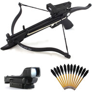 80lb Self-Cocking Pistol Mini Cobra Crossbow With Scope And Bolts
