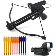 50lb Self-Cocking Pistol Mini Cobra Crossbow With Scope And Bolts