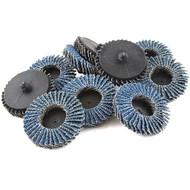 """JMK-IIT 10 Piece 24 Grit 2"""" Flap Wheel Sanding Discs"""