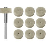 "JMK-IIT 10 Piece 1/2"" Felt Polishing Wheels"