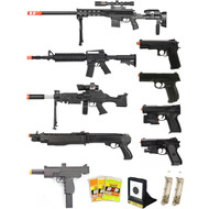 15 Piece Spring Airsoft Rifle Gun Set