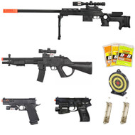 10 Piece Spring Airsoft Rifle Gun Set
