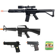 5 Piece Spring Airsoft Rifle Gun Set