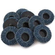 """JMK-IIT 10 Piece 40 Grit 2"""" Flap Wheel Sanding Discs"""