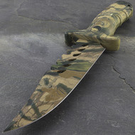 "Survivor 10.5"" Desert Camo Sawback Survival Knife"