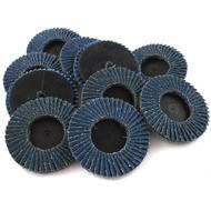 """JMK-IIT 10 Piece 40 Grit 3"""" Flap Wheel Sanding Discs"""