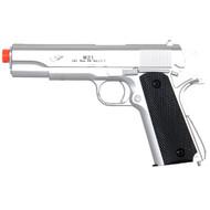Double Eagle Silver M1911 Spring Airsoft Pistol Gun