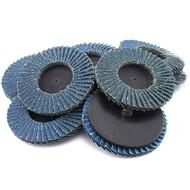 """JMK-IIT 10 Piece 60 Grit 3"""" Flap Wheel Sanding Discs"""