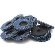 """JMK-IIT 10 Piece 120 Grit 2"""" Flap Wheel Sanding Discs"""