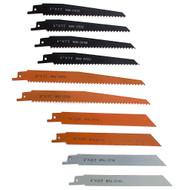 JMK-IIT 10 Piece Assorted Reciprocating Saw Blades Set