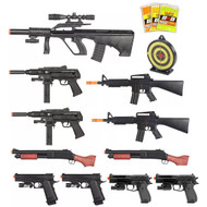 15 Piece Spring Airsoft Rifle Gun Bundle Set
