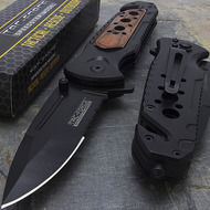 "Tac Force TF-637RW 8"" Tactical Wood Spring Assisted Folding Knife"