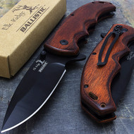 Elk Ridge Ballistic ER-A004BW Pakkawood Spring Assisted Knife