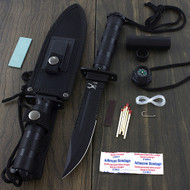 "Bone Edge 10.5"" Survival Knife With Survival Kit"