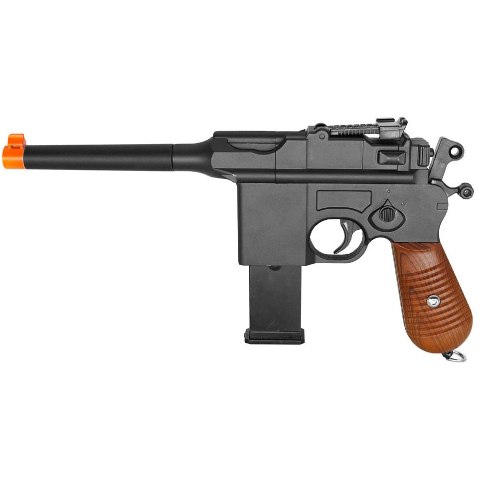 Galaxy G12 WWII Mauser Broomhandle Metal Spring Airsoft Pistol Gun