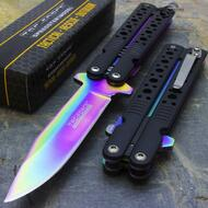 """Tac Force TF-528 7.5"""" Rainbow Spring Assisted Folding Knife"""