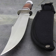 "Survivor 12"" Fixed Blade Wood Handle Knife"