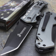 "MTech M-A1002TP USMC Marine Corps ""Leatherneck"" Licensed Spring Assisted Knife"