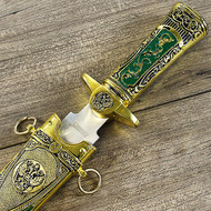 "11"" Medieval King Gold Dagger Knife"