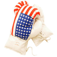 16 oz Adult Boxing Gloves USA Flag Design