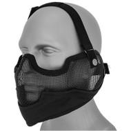 UKArms Airsoft Metal Mesh Half Face Mask Black