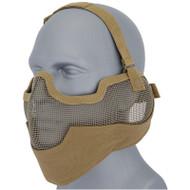 UKArms Airsoft Metal Mesh Half Face Mask Tan