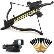 80lb Self-Cocking Metal Pistol Mini Cobra Crossbow With Scope And Bolts